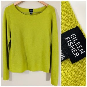 Eileen Fisher | lime Italian Wool Sweater